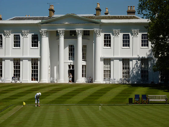 The magnificent 18th century mansion which serves as the clubhouse for the Hurlingham Club.