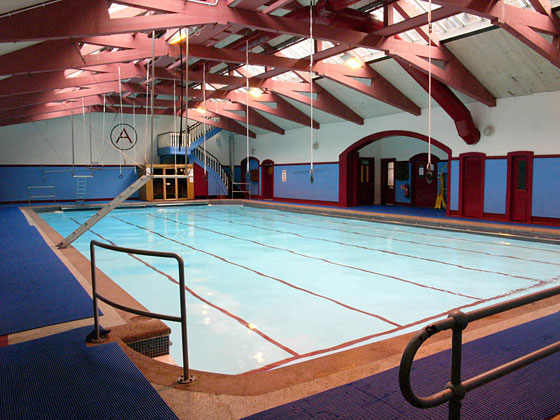 The pool at the Arlington Baths Club in Glasgow
