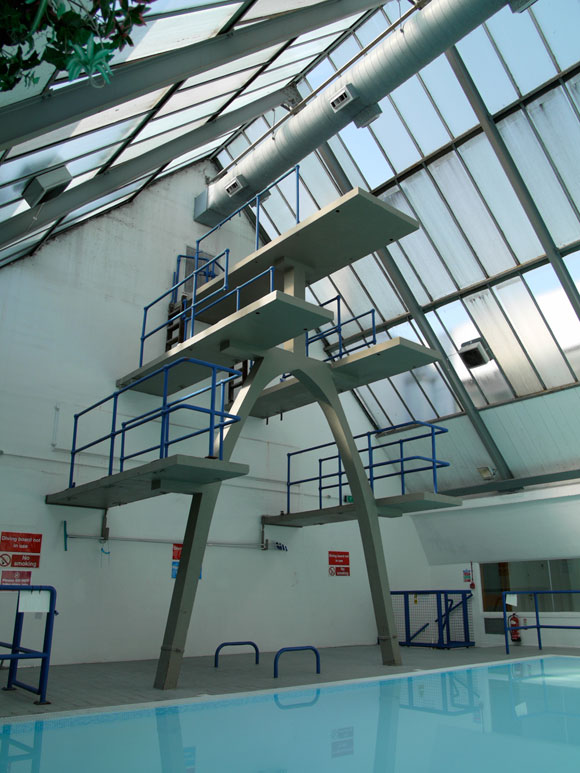 The elegant diving boards at the Pioneer Health Centre.
