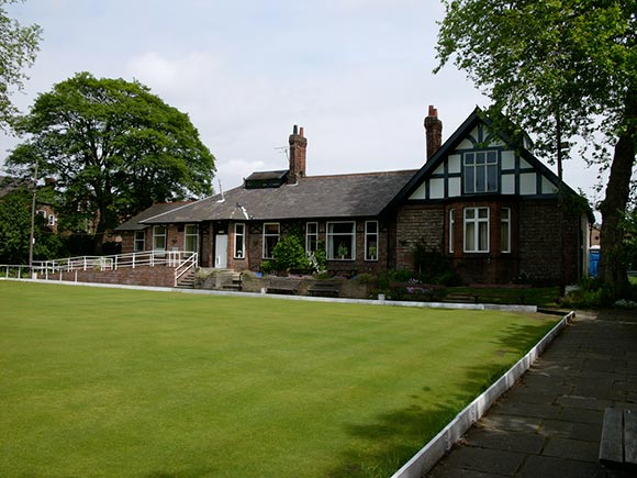 The Albert Bowling and Tennis Club's characterful clubhouse.