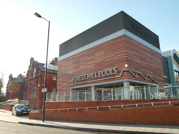 The recently redeveloped Forest Hill Pools.