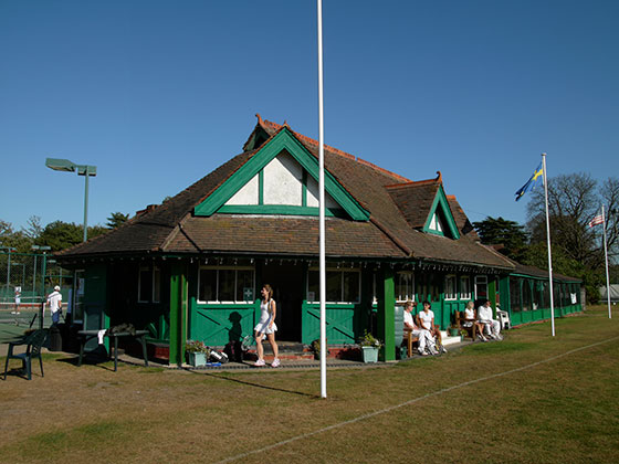 The 1890s pavilion at Beckenham Tennis Club
